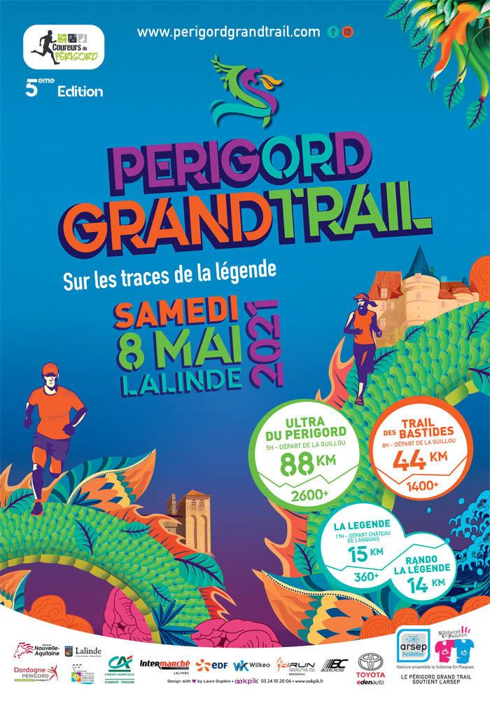 Affiche Périgord Grand Trail 2021